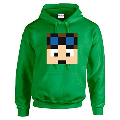 Dan TDM - Sudadera con capucha azul verde 9-11 Años