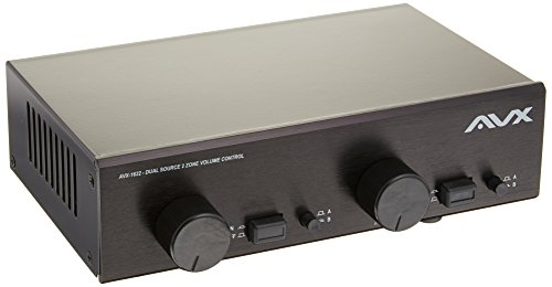 2 Zone Dual Source Speaker Selector with Individual Volume Control by AVX Audio