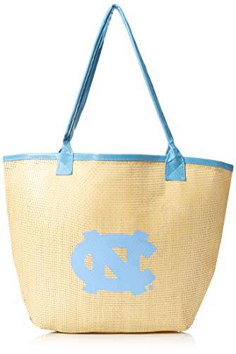 FOCO NCAA North Carolina Tar Heels Stroh Beach Tote, eine Größe, blau