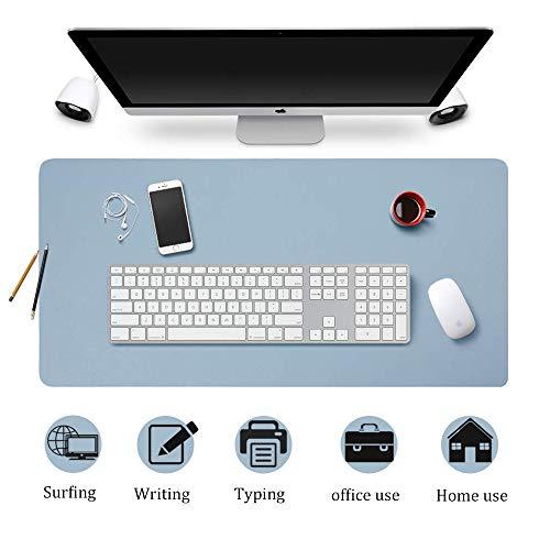 Esterilla Ordenador, Alfombrilla Estera del Escritorio de Oficina, Protector de Escritorio Pad & Mouse Pad ultrasuave Bloc 80 x 40 cm Azul