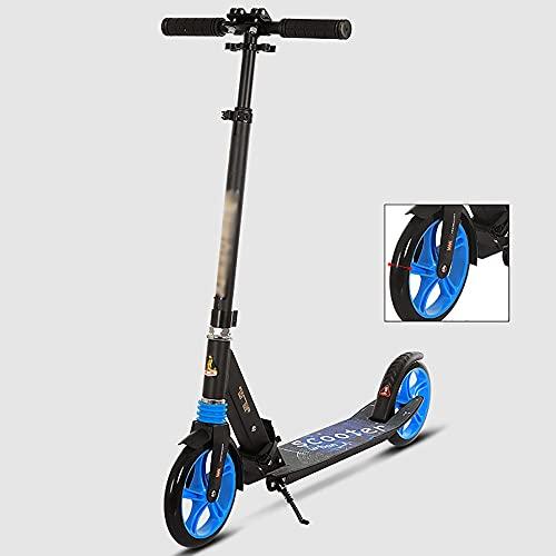 DODOBD Patinete Adulto, Plegable Kick Scooter niño 12 años, Altura Ajustable 91-106 cm, Scooter City Roller con Freno de Mano Freno de pie para Adultos y niños, Rueda 300mm, Máx 150 kg