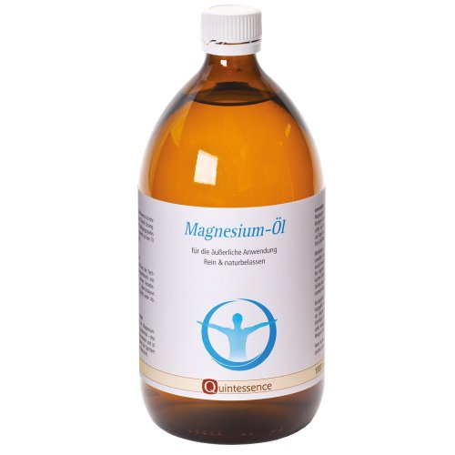 Zechstein Magnesiumöl, 1000 ml von Quintessence | Glasflasche | Original aus dem Zechstein-Meer | Natürliche Magnesium-Chlorid-Lösung | Reines Naturprodukt | Ohne Konservierungsstoffe