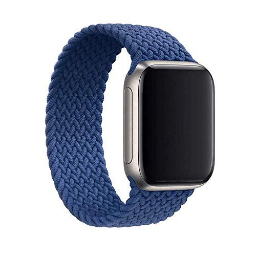 Gizget - Cinghie elastiche in nylon intrecciate, compatibili con orologio da 38 mm, 40 mm, 42 mm, 44 mm, per iWatch Series 6 SE 5 4 3 2 1 (42 mm/44 mm M, blu Atlantico)