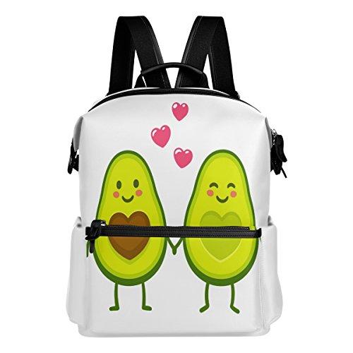 ALAZA aguacate Love Casual mochila mochila estudiante escuela Bolsa de viaje ligero