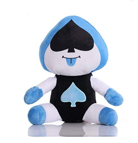 Zpong 25Cm Undertale Plush King of Spades Soft Toys, Undertale Plush Soft Stuffed Doll Toy para Niños Niños Cumpleaños Peso 135G