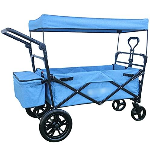 Z-SEAT Gebrauchswagen Hochleistungs-Einkaufswagen Geräuschloser und stoßdämpfender zusammenklappbarer Wagen, tragbarer Campingwagen mit großer Kapazität, 2 große 12-Zoll-Rä