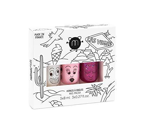 Juego de 3esmalte de uñas nailmatic: Sheepy, Piglou, Bella