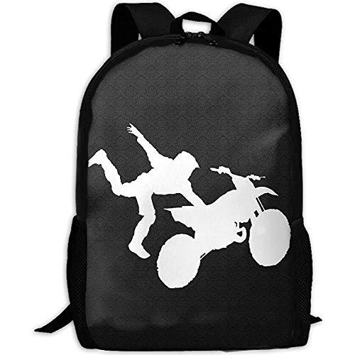 RAHJK Mochila Tipo Casual Mochila Escolares Mochilas Estilo Impermeable para Viaje De Ordenador Port/átil hasta 14 Pulgadas Motocross Dirt Bike