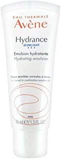 Eau Thermale Avene Hydrance LIGHT Hydrating Emulsion, Daily Face Moisturizer Cream, Non-Comedogenic, 1.3 oz.