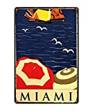 Retro City Florida Golfo De México Shabby Chic Carteles De Chapa Lienzo Póster Bar De Pared Restaurante Arte del Hogar Decoración 40X50Cm (Jn0625)