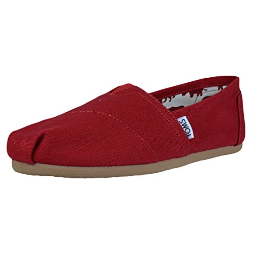 TOMS Women's Red Canvas Classic 001001B07-RED (Size: 8)