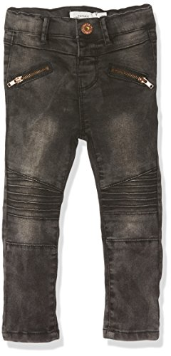 NAME IT Baby-Mädchen Jeans Nittib Skinny Dnm Pant Mini Noos, Grau (Dark Grey Denim), 80