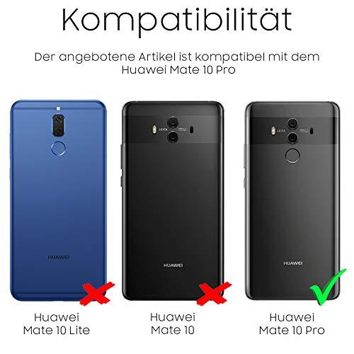 """Hülle kompatibel für Huawei Mate 10 Pro """"Touch Case 2.0″ I 360 Grad Rundum-Schutz Full Cover [Unbreakable Case bekannt aus Galileo] Crystal Clear Schwarz Full Body Case - 2"""