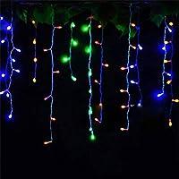 省エネ クリスマスライトクリスマスリース主導のカーテンつらら文字列5メートル96個のライト屋内洪水ライトLED党屋外装飾ライト 窓 (Color : Multicolor)