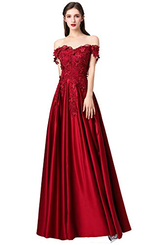 Prom Dresses 2020 Off The Shoulder Quinceanera Dresses for Women Long Ball Gown BD282