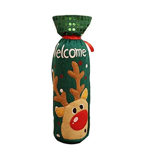 lingzhuo-shop Kerstman sneeuwpop kerstflessen decoratie, kerstflesetui, wijn champagne fles wijnfles tassen kerstdecoratie party decoratie effect
