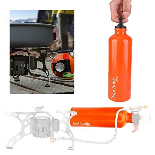 DAUERHAFT 7072 Aluminum Alloy Fuel Bottle Orange,Suitable for Storing Liquid Alcohol, Gas, Petrol, Kerosene and Other Fuel