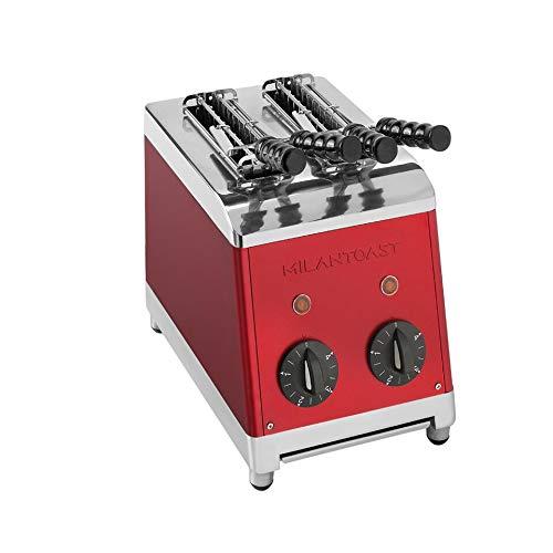 Milan Toast 7003 Klassische Inox Toaster mit 2 Tongs