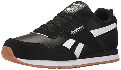 Reebok Mens Classic Harman Run Sneaker, black/white/gum, 7.5 M US