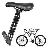 Iriisy Asiento de bicicleta para niños delantero montado, desmontable, asiento de bicicleta de montaña, marco ajustable, 0-22 kg