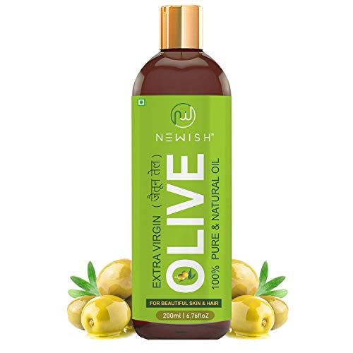 Newish® Pure Cold Pressed Olive Oil For Hair and Skin,200ml