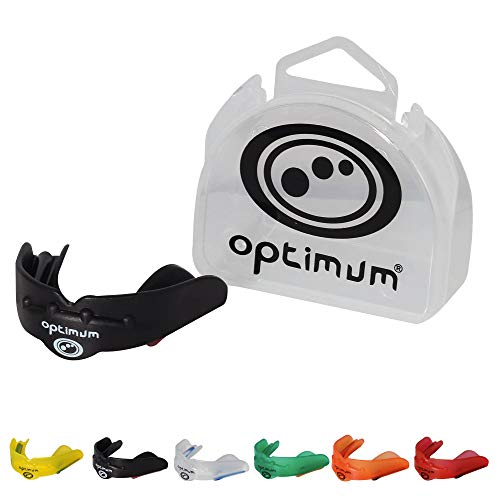 OPTIMUM Matrix Mouthguard-Negro, Junior, Niño, Infantil