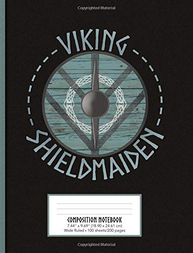 Viking Shieldmaiden Composition Notebook Wide Ruled 7.44
