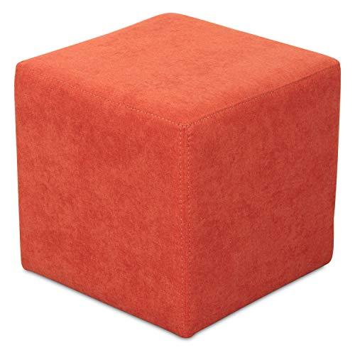 Staboos Sitzwürfel 42cm - Hochwertiger Sitzhocker Pflegeleichter Pouf Hocker - Sitzpouf mit nur 4kg - Sitzcube als perfekte Sitzgelegenheit (Coral_08)