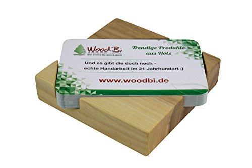 Visitenkartenbox aus Holz | Visitenkartenhalter aus Holz | Visitenkartenständer | Original von WOODBI® (Ulme)