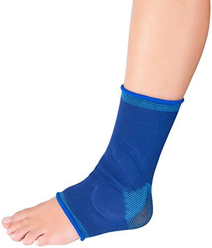 Speeron Fussbandage: Knöchelbandage mit Gel-Kissen, unisex, Größe M - L (Sportbandage für Fuß)