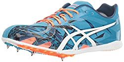 professional ASICS GUNLAP Sports Shoes, Island Blue / White / Hot Orange, USA 13 Million