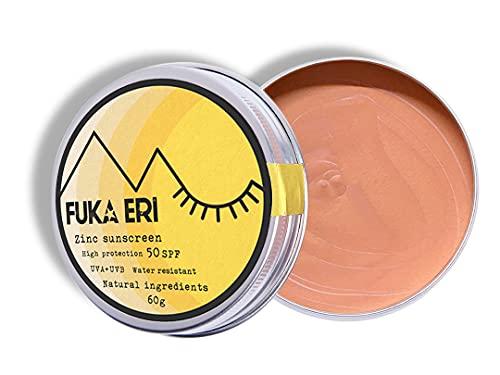 FUKA ERI Sonnencreme mit Zink non-nano. Sehr hoher schutz vor UVA/UVB. LSF 50. Mineralische zutaten. Farbige sonnenschutz. Vegan, wasserfest. Gesicht und empfindliche bereiche. Ohne...