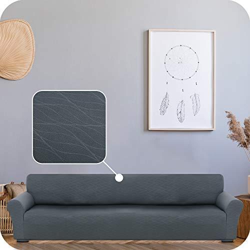 UMI. by Amazon Funda para Sofa Decorativa Suave de Salon Comedor 4 Plazas Gris