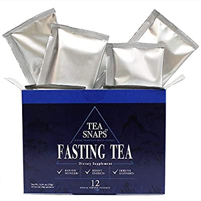 Immortalitea Diet Tea – Fasting Tea for Weight Loss – Appetite Suppressant - Boosts Metabolism with 11 Natural Herbs - 6000 mg, 8:1 Concentration, PIC/S-GMP Certified - 12 Fast Dissolving Servings by Teasnaps