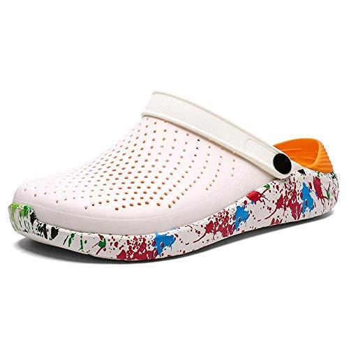 Chanclas Unisex Zapatos De Agujero Crocks Zuecos Mujer Sandalias Crocse Zapato Croc Eva Ligero Sandles Unisex Zapatos Coloridos para Playa De Verano Talla Grande 36-46 6 Camuf