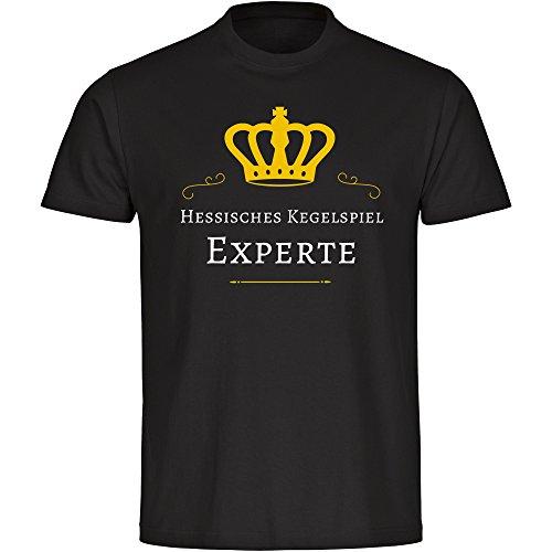 Herren T-Shirt Hessisches Kegelspiel Experte - schwarz - Größe S bis 5XL, Größe:XL