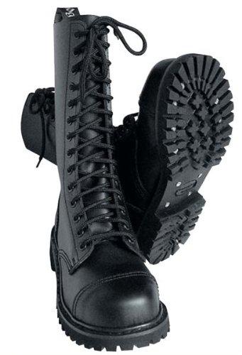 14-Loch Springerstiefel Ranger Stiefel schwarz mit Stahlkappe - Größe 40