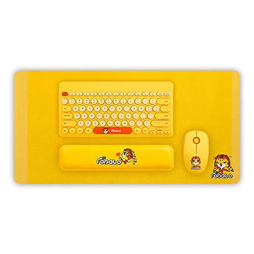 Docooler Wireless Keyboard Mouse Set 78 Keys 1600 DPI Membrane Keyboard Mouse Combo Kit for Windows Laptop Notebook Desktop