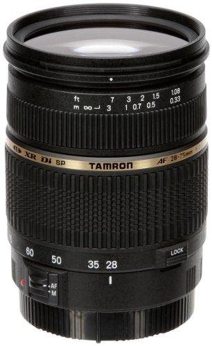 Tamron A09E SP AF 28-75 mm F/2.8 - Objetivo para Canon (distancia focal 28-75mm, apertura f/2.8, macro, diámetro: 67mm) color negro (incluye parasol)