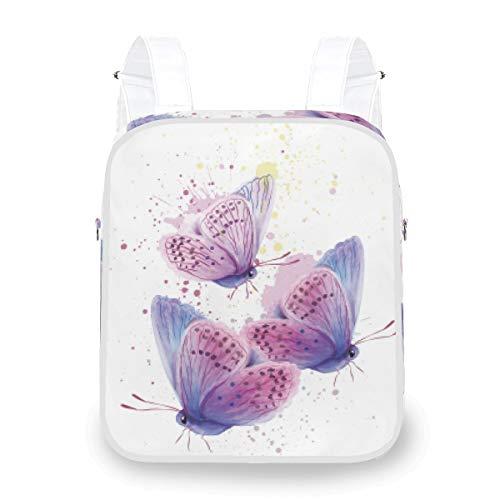 Farfalla Acquerello Card Zaino Multifunzione Moda Doppia Borsa A Tracolla Slant Straddle Bag per Ragazza Donne