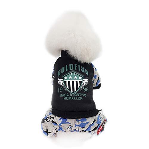TREESTAR Pet Vestiti per Cani di Piccola Taglia Pilota Spessore 4-Legged Cotone Cappotto con Pantaloni per Cucciolo Gatti Conigli Warm Winter Autumn Costume S-XXL