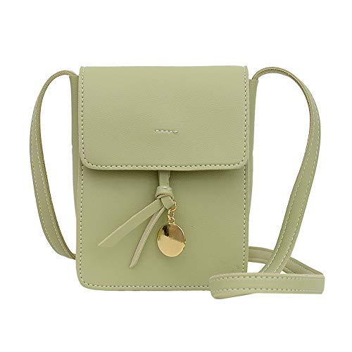 Fashion Crossbody Bag Women Multi-layer PU Leather Purse Travel Daily Shoulder Mobile Phone Pouch for Ladies Girl