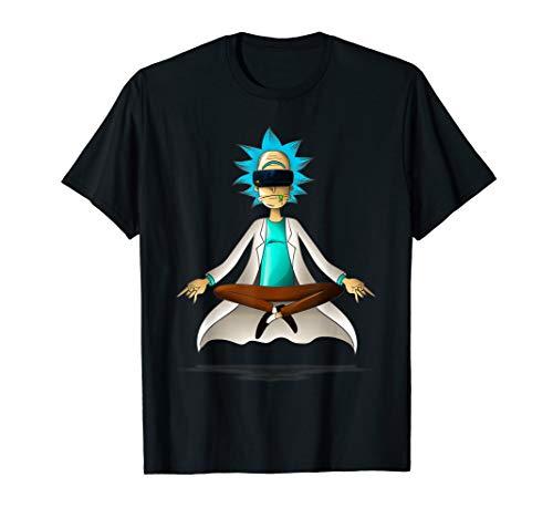 Rick and Morty Pop Socket Virtual Meditation T-Shirt