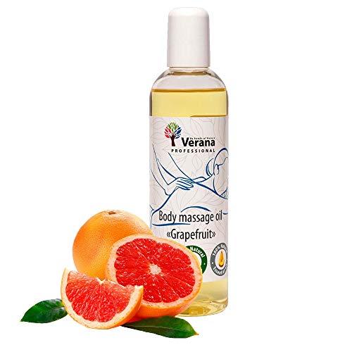 Verana Grapefruit Massage-Öl, Naturkosmetik Körper-Öl, Alle Haut, Pflegende Massage, Aromatherapie, Anti Aging, Antiseptikum, Anti Cellulite (small, 250 ml)