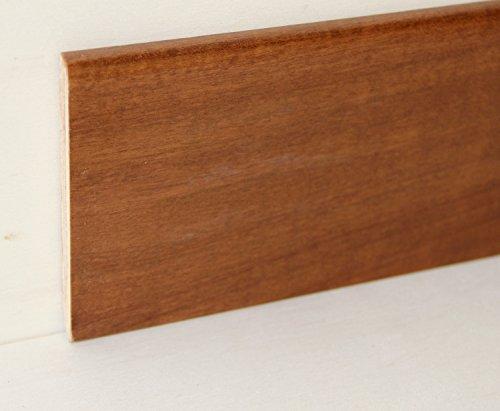 Hobby Legno - Battiscopa Rivestito In Legno Di Tanganica Tinto Noce Medio mm. 100X10X2400 (Prezzo Per ml. 4, 80)