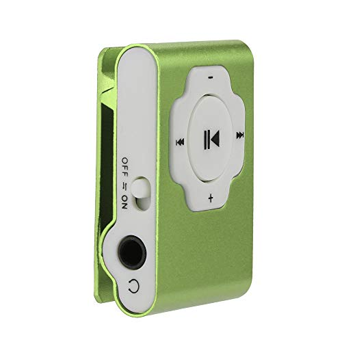 MP3 Player, Tuscom Mini Portable USB MP3 Player Support Micro SD TF Card 32GB, Clip Music Player, MP4 Player, Video/Media/Music Player for Sport and Music Lovers (Green)