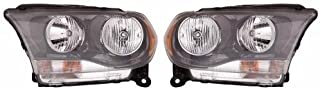 Go-Parts - PAIR/SET - OE Replacement for 2011 - 2013 Dodge Durango Front Headlights Headlamps Assemblies Front Housing / Lens / Cover - Left & Right (Driver & Passenger) Side CH2503229 CH2502229