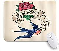 NIESIKKLAマウスパッド ライターにインスパイアされた羽ペンがアートワークのツバメを描く ゲーミング オフィス最適 高級感 おしゃれ 防水 耐久性が良い 滑り止めゴム底 ゲーミングなど適用 用ノートブックコンピュータマウスマット