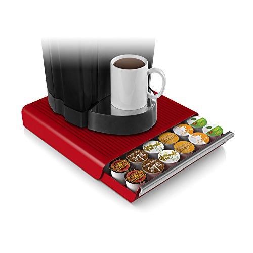 Mind Reader Hero Coffee Pod Drawer, 12.91 x 13.19 x 2.83, Red