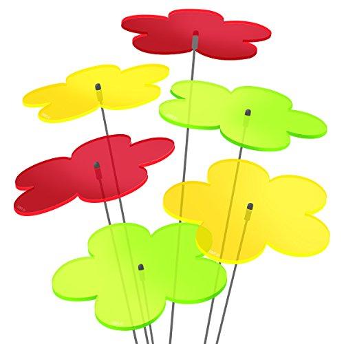 """SUNPLAY """"Sonnenfänger-Scheiben"""" im FARBMIX, 5 Stück zu je 20 cm Durchmesser im Set + 70 cm Schwingstäbe"""